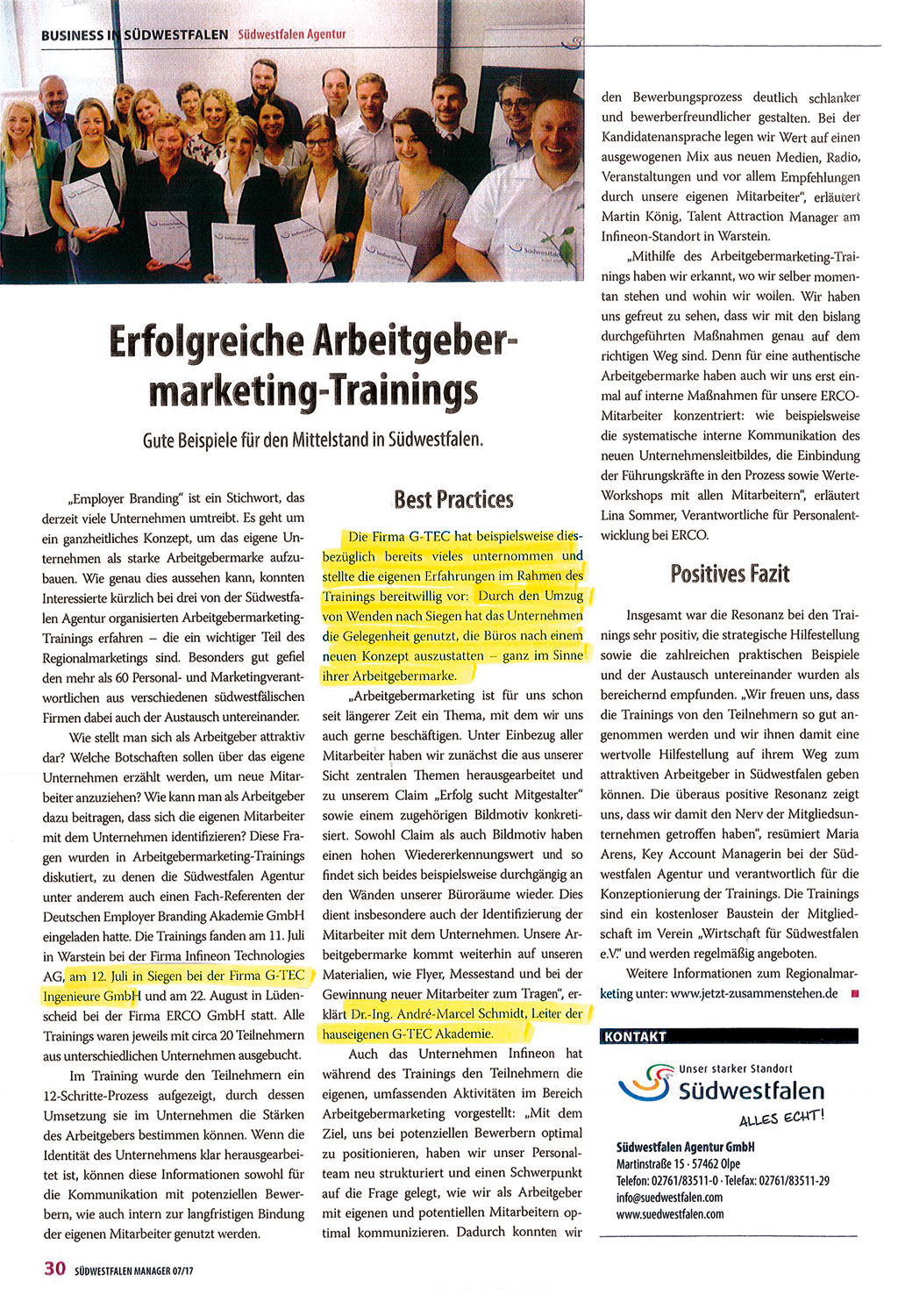 Arbeitgebermarketingtraining_Artikel-Suedwestfalenmanager_Sept_2017-1