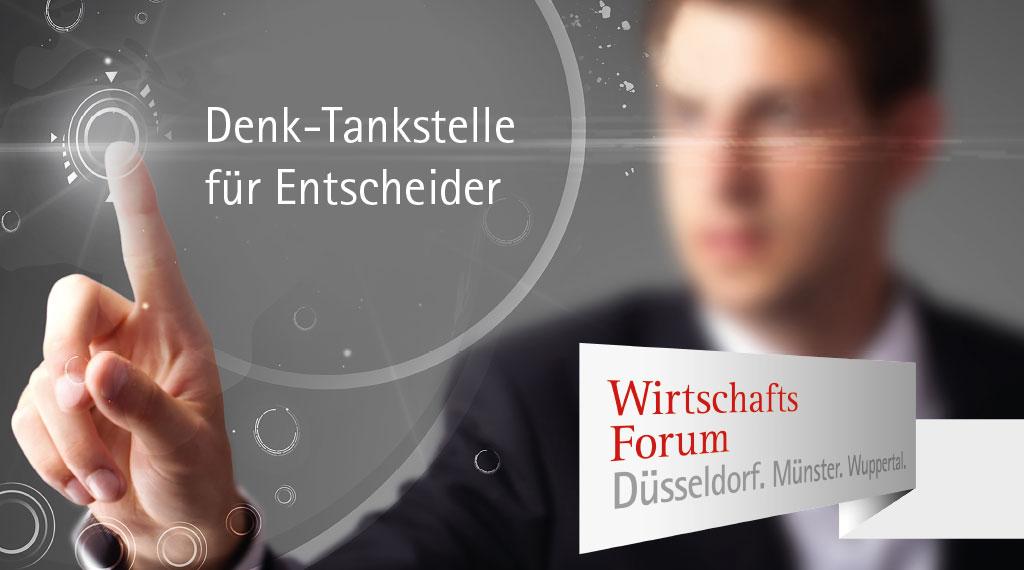 Megatrend Mobilität –  Leitthema beim Wirtschaftsforum Düsseldorf. Münster. Wuppertal.