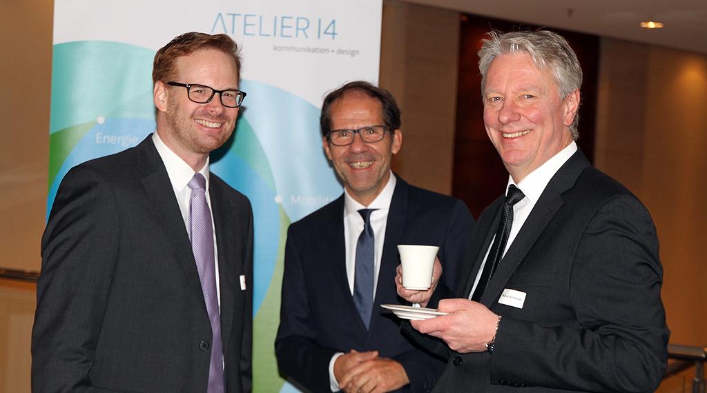 Michael Schneider (REMONDIS) mit Markus Vogel und Christoph Kämpfer