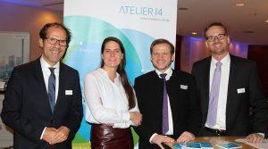 Mit Melanie Fuchs (Galderma) und Elmar Niederhaus (Leadership für Politik und Wirtschaft)